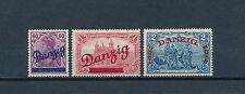 Danzig Großer Innendienst 1920** Michel 47-49 mit 3 Attesten (S11660)