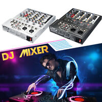 Gappio Professional 4 Channel USB Mixer Live Studio Audio Stereo Sound Mixing DJ