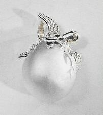 SOLID 925 STERLING SILVER HAWAIIAN BABY HONU TURTLE EGG HATCHLING PENDANT #1