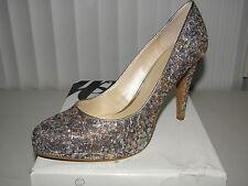 $79 New Nine West Rocha Size 10 m Bronze Multi Colors High Heels Pumps Shoes