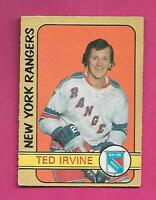 1972-73 OPC # 212 RANGERS TED IRVINE HIGH # VG+ CARD (INV# D0401)
