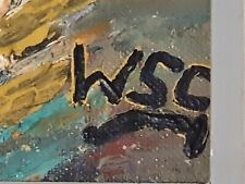 Winston Churchill Original Vintage Oil Painting hand signed Not A print.
