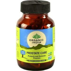ORGANIC INDIA Prostate Care 60 Capsules Bottle (Pack of 3) with Free Shipping