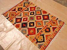 Hand Woven Wool Rug Turkish Kilim Dhurrie Afghan Oriental Area Rug 3'X5' ft