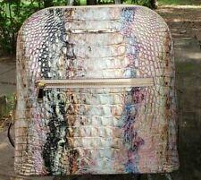 Brahmin Felicity Opal -Blue, Green, Pink Melbourne Backpack/Shoulder Bag NWT