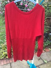 Beautiful Firetrap Ladies Red Jumper Large in VGC flattering empire line style.