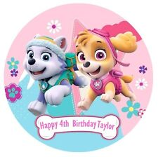 PAW Patrol Personalised Edible Wafer Paper Party Cake Decoration Topper Image