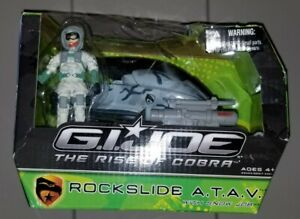 G.I. Joe ROC Rise of Cobra Rockslide A.T.A.V. and Snow Job!