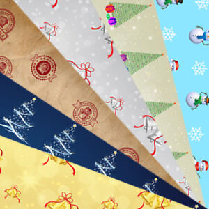 Wholesale Luxury High Quality A3 Christmas Gift Wrap Pack 12 Sheets 6 designs