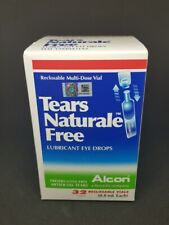1 BOX ALCON TEARS NATURALE FREE 32 Vial (0.8ml) LUBRICANT EYE TEAR DROPS