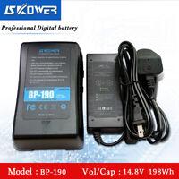 SKOWER BP190 V-Mount V-lock V-Shape Rechargeable 198Wh Li-ion Battery + Charger