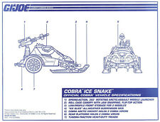 G.I. JOE Series 12 Vintage Blueprints Original Instructions COBRA ICE SNAKE