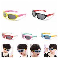 Kids Boys Girls Children Sunglasses Sporty Polarized Outdoor UV Flexible Cycling