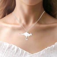 Känguru Anhänger Wallaby Dangle Halskette Australien Tier Schmuck Geschenk T5C9