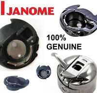 100% GENUINE JANOME & ELNA BOBBIN CASE - Black Plastic bobbin holder Original