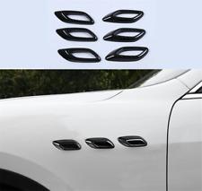 For Maserati Levante 2016-2021 Carbon Fiber Side Wing Air Vent Fender Cover Trim
