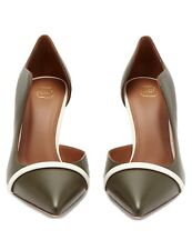 Malone Souliers Morrissey D'Orsay Pumps Olive Green Size 12 Brand New with Tags