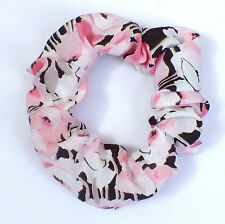 VINTAGE CUTE FLORAL 80s HANDMADE LARGE ELASTIC SCRUNCHIES PONYTAIL HAIR BAND 502