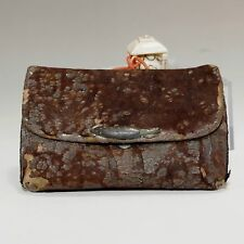 Antique Japanese Leather Pouch in Meiji #401