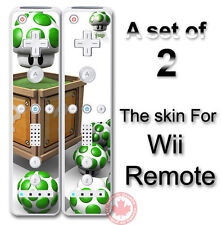Super Mario Life Up SKIN COVER STICKER for Wii Remote