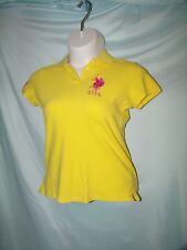 US Polo Assn. Solid Yellow Cotton Blend Embroidered Logo Polo Knit Shirt Size XL
