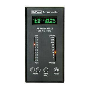 Acoustimeter AM11 Radio Frequency RF Detector Radiation EMF Meter 0.2~8GHz