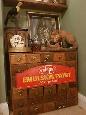 Vintage Retro Valspar Paint Red yellow advertising sign antique interior design
