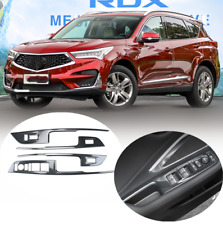 fits Acura 2019 20 RDX Carbon Fiber stainless Interior Door Armrest Cover Trim