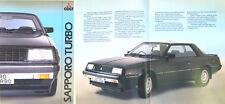 Mitsubishi Colt Galant Sapporo Turbo 1982-85 original UK Sales Brochure