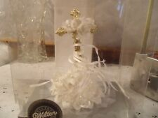 CAKE TOPPER WILTON  VINTAGE NIP WITH RIBBONS CHECK PICTURES