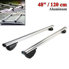 Universal 48''/120cm CNC Car Roof Rail Luggage Rack Baggage Carrier Cross Bars