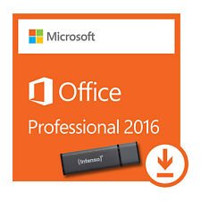 Microsoft Office 2016 Professional Plus 1x PC Aktivierung USB Stick