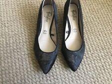Guante De Pie Estampado Animal Más amplio Ajuste señoras de cuero Tribunal Zapatos Talla 4.5