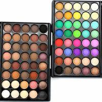 Neu 40 Farben tral Lidschatten Palette Eyeshadow Matt & Schimmer Augen Deko K0J5