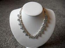 Vintage STAR Goldtone AB Rhinestone Necklace