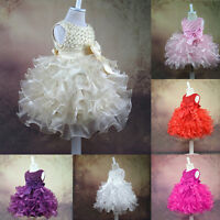 Infant Baby Girls Birthday Wedding Pageant Party Princess Lace Hot Flower Dress