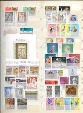 Luxemburgo. Series y Hojas Bloques año 1974 a 1984. Valor 274.10 Euros