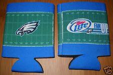 2 MILLER LITE Beer Philadelphie Eagles Football can - bottle drink koozies - NEW
