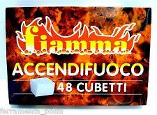 5 CONFEZIONI DA 48 CUBETTI ACCENDIFUOCO FIAMMA PER CAMINO STUFA CASA