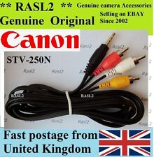 Genuine Canon AV Stereo Cable STV-250n S5 SX10 SX20 TX1 IS ZR100 ZR200 ZR300