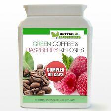 60 RASPBERRY KETONE & GREEN COFFEE BEAN EXTRACT DIET COMPLEX WEIGHT LOSS PILLS
