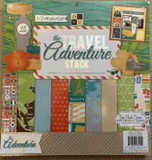 DCWV The Travel Adventure Stack 48 12x12 Sheets Vacation US Europe S America Afr