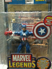 Captain America 2002 Toy Biz Action Figure Marvel Legends Series 1 NEW Gold Foil