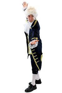Blue Baron: High Quality Costume Mens Baroque Mozart Aristocrat Hof Servant L075