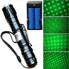 Military 532nm Green Laser Pointer Pen LED Visible Beam 18650 +Star Cap +Charger