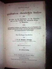 Fresenius, 1843 Qualitative Chemical Analysis,  Rare & Important Chemistry