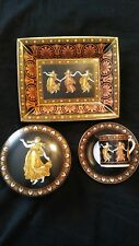 VINTAGE WEDGEWOOD BONE CHINA ETUSCAN DANCE TRAY- TRINKET BOX- CUP AND SAUCER