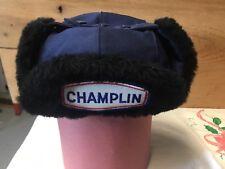 Vintage CHAMPLIN Gas Station Attendant Hat Cap Uniform Service Oil Sign Old NOS