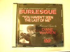BURLESQUE Movie CHER Music DVD Video FYC BEST ORIGINAL SONG Rare LIVE Promo DVD
