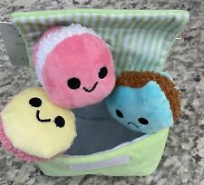 NWT BARK BOX Wee Wee Macaroon 3 Pack Squeaker Toys Small Size 0-20 lbs *Rare*